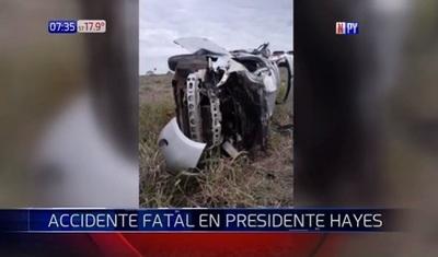 Dos militares mueren en accidente en Presidente Hayes