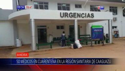 Decenas de médicos están en cuarentena en Coronel Oviedo