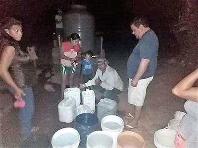 """""""¡Por fin agua!"""", grita sufrido pueblo emboscadeño sobre proyecto concreto de la Essap"""