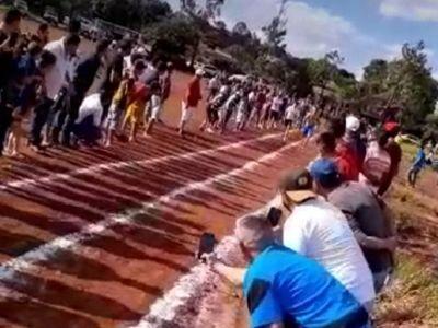 Denuncian aglomeración de personas en una carrera en Pedro Juan Caballero