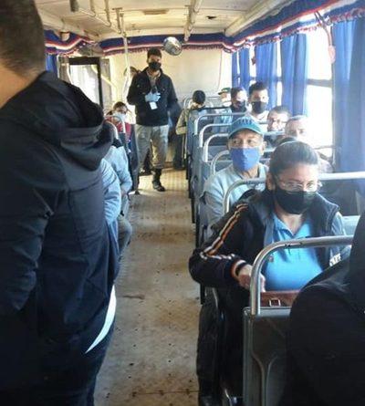 Realizan control de protocolo sanitario en buses