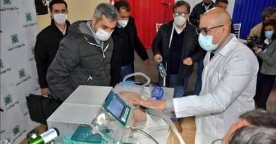 Yacyretá fabrica respirador y entrega a Salud para casos urgentes de COVID-19