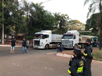 Protesta contra el cierre de ruta en Ciudad del Este