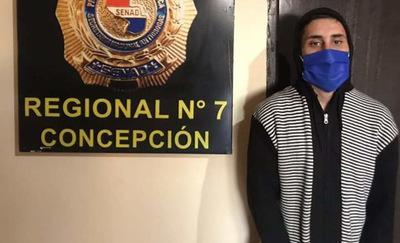 Concepción: SENAD detiene a un joven con antecedentes y orden de captura