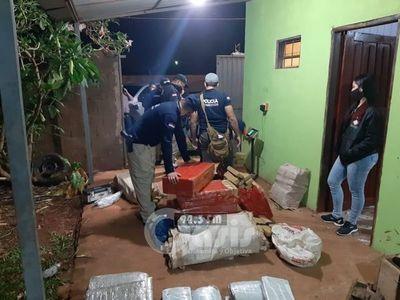Antinarcóticos incauta alrededor de una  tonelada de marihuana en Pedro Juan