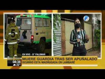 Asesinan a puñaladas a un guardia en Lambaré
