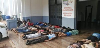 HOY / Tiroteo entre la Marina de CDE y contrabandistas: hay heridos y 35 demorados