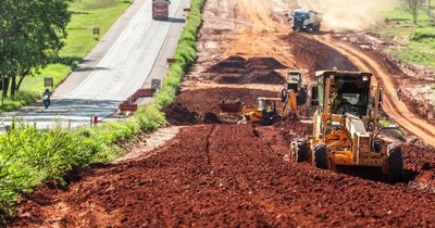 Ruta PY02: a casi un año de su inicio, ejecutaron el 29% de las obras