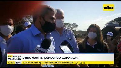 """Mario Abdo admite """"concordia colorada"""" con HC"""
