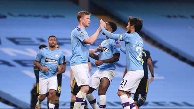 El Manchester City golea en su último test antes del Real Madrid