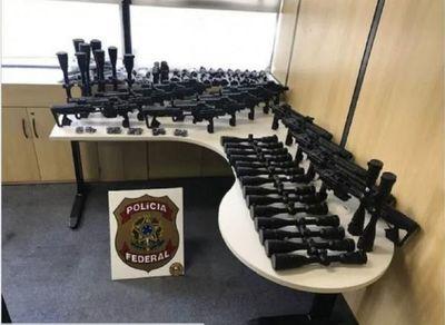La Federal de Brasil intercepta red que traficaba armas desde Paraguay