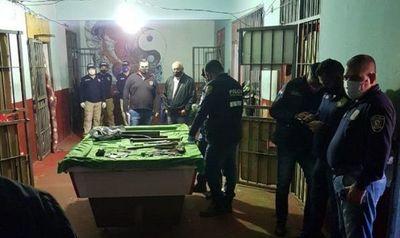 Incautan varios estoques tras allanamiento en cárcel de Pedro Juan Caballero